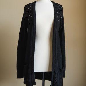 Nordstrom | Dolled Up Black Studded Cardigan